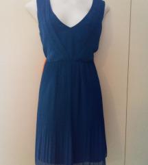 Kraljevski plava plisirana Vila haljina