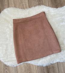 Mini suknja boje breskve