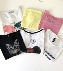 Lot majica XS Bershka, H&M...