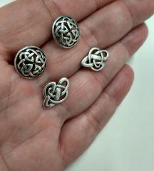 2x vintage keltske nausnice KitHeath ,srebro 925