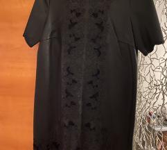 Crna kozna haljina