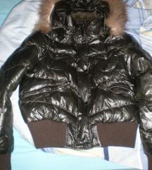 Smeđa zimska jakna