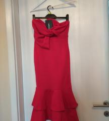 Crvena koktel haljina