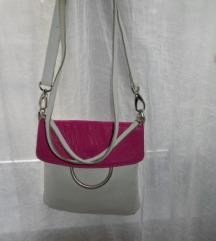 Guliver kožna bijelo roza torbica