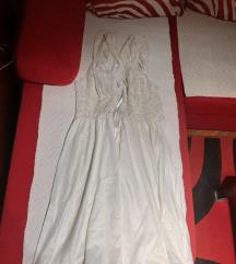 Bijela slip haljina negliže