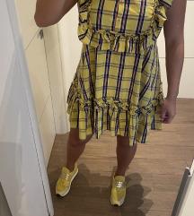 Žuta haljinica sa volanima L