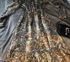 Zara snake midi dress