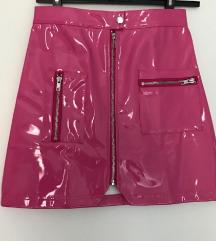 PVC mini suknja - roza