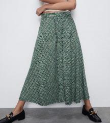 Zara midi suknja od tvida