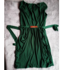 Smaragdno zelena haljina novo uklj pt