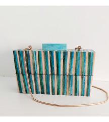Zara plava kovčeg torbica (pt gratis)