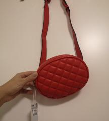 Nova crvena torbica za oko struka