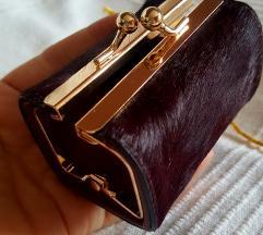 MINI torbica PARFOIS pravo krzno koža