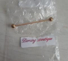 Zlatni industrial piercing sa pt u cijeni