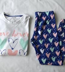 Pamučna pidžama na srca