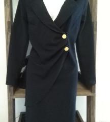 Crna elegantna haljina + lančić na poklon
