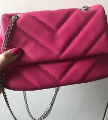 BERSHKA prošivena torbica s lancem