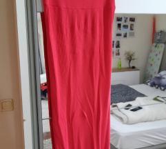 Bershka ribbed haljina duga%