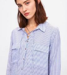 ZARA prugasta košulja na vezanje- VISKOZA