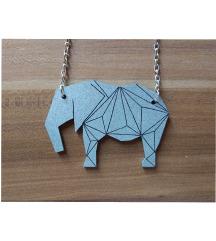 Dvostrana ogrlica slonić (pt gratis)