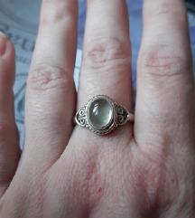 Prsten srebro prehnit
