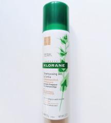 REZ Klorane suhi šampon za masnu tamnu kosu
