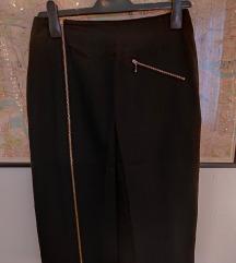 Vunena crna suknja