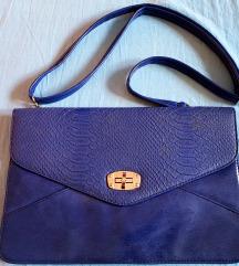Tamno plava - pismo - torba
