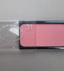 Art Deco pink rumenilo
