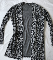 H&M duži leopard kardigan