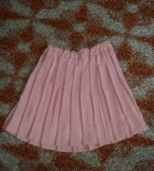 Plisirana baby pink suknja