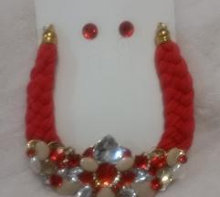 UNIKAT elegantna ogrlica s naušnicama