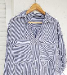 ZARA prugasta oversized košulja