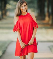 Zara crvena ljetna haljinica  SNIŽENO