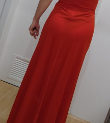 Duga crvena haljina_ukljucena postarina