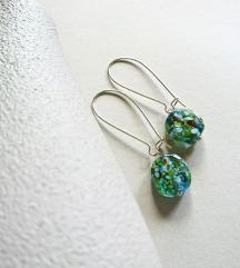 Handmade naušnice sa staklenim perlicama