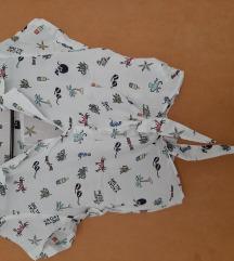 H&M crop top košuljica