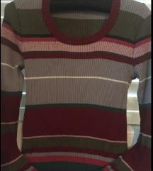KOOKAI  prugasti pulover majica sa lurexom