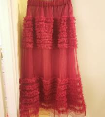 Zara crvena til suknja