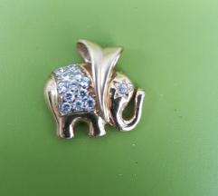 Zlato 585 privjesak  slon