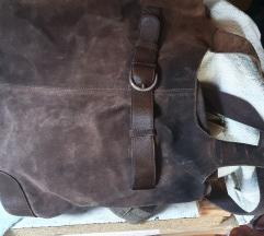 Kožna torba smeđa
