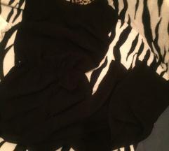 Crni jumpsuit, šire nogavice