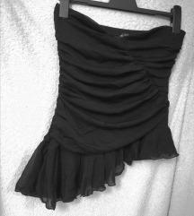 Crni asimetrični top korzet