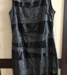 Sisley srebrna haljina veličina S