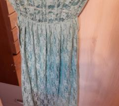 Nova mint cipkasta haljina