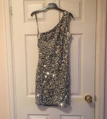 H&M šljokasta mini haljina