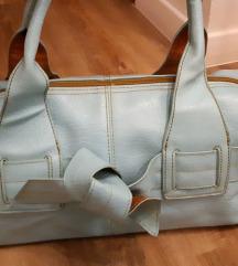 Tirkizno plava torba, umjetna koža