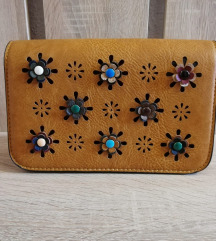 Oker cvjetna torbica - NOVA!!!