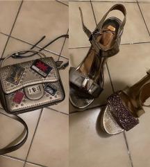 Lot torbica i sandale puna peta