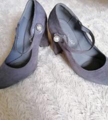 Sive cipele na deblju petu 37